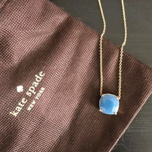 NWT Kate Spade Crystal Blue and Gold Necklace